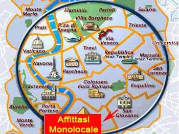 Affitto monolocale citta roma